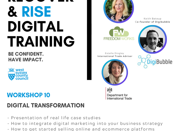 West Sussex Recover and Rise Digital Training - #10 Digital Transformations